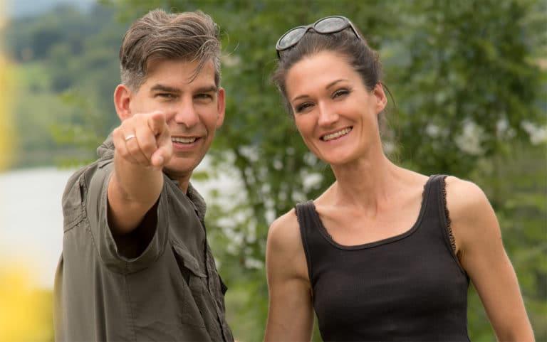 Sandra Exl mit Matthias Exl im sportlichen Outfit