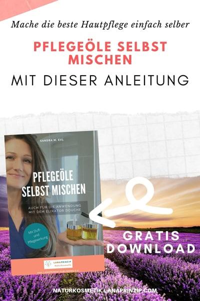 Banner mit Text für Download Pflegeöle selbst mischen