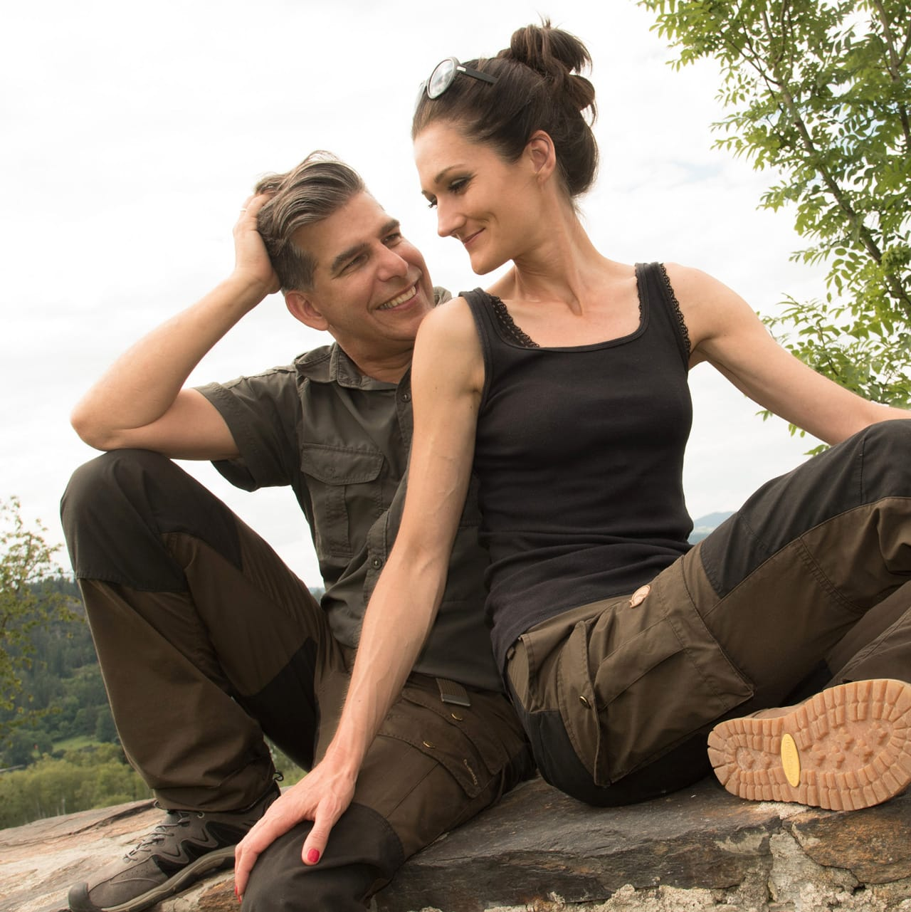 Sandra und Matthias Exl in der Natur